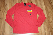 Abercrombie & Fitch A&F Homme Sweat Pull Rouge Taille S Avec Impression Neuf