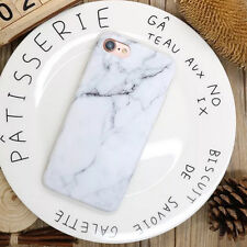 Elegant Pastel Marble Pattern Cover Case Shockproof TPU For iPhone 8 6s 7 Plus