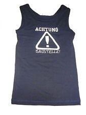 NEU Topolino tolles Unterhemd Gr. 98 / 104 dunkelblau mit Schriftzugdruck !