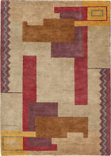 Ivan Da Silva-Bruhns Art Deco Inspired Multicolored Pattern Rug N11400