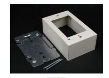 1 NIB WIREMOLD V2448 DEVICE BOX IVORY STEEL SWITCH RECEPTACLE 2400 SERIES