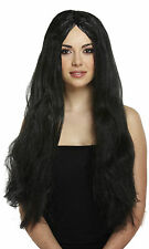 FANCY DRESS  HALLOWEEN WITCH WITCHES WIG BLACK 65CM