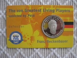 Silber Gedenkmünze   THE 100 GREATEST LIVING PLAYERS Franz Beckenbauer