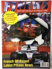 F1 NEWS FORMULA ONE MAGAZINE 1998 No.11 July 4  Formel 1