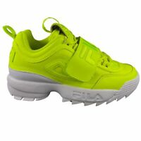 Fila Women's Disruptor II Applique Safety Yellow Casual Athletic Sports Shoes
