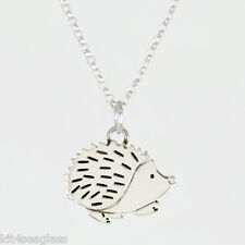 """Far Fetched Hedgehog Sterling Silver Necklace Pendant w/ 16"""" Chain - Gift Boxed"""