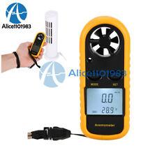 Digital LCD Wind Speed Gauge Air Velocity Meter Anemometer NTC Thermometer