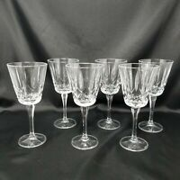 "BLOCK 'Olympic' Crystal Square Bowl Water Goblets / Wine Glasses  8"" - Set of 6"