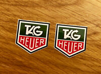 TAG HEUER 2 STÜCK Aufkleber Sticker Motorsport Youngtimer Retro Tuning OEM Mi317