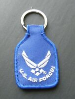 US USAF WINGS AIR FORCE EMBROIDERED KEY CHAIN KEY RING 1.75 X 2.75 INCHES
