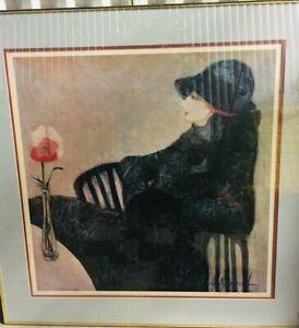 Barbara Wood Lady Wellington Signed And Framed Artwork