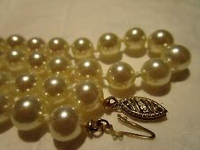 "AMAZING Vintage 14K Gold GENUINE MAJORICA Pearl 19""Necklace ELEGANT RETRO ESTATE"