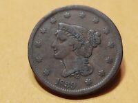 1839 U.S. Large Cent Very Fine