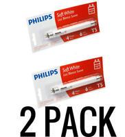 2 PACK Philips 392183 Linear Fluorescent 4Watt 6in T5 Soft White Light Bulb 266