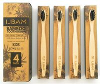Bamboo Toothbrush KIDS |Medium Bristles| Pack of 4 | Biodegradable |Eco Friendly