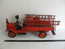 1920s Keystone Heavy Pressed Steel Packard Chemical Pump Fire Truck w/ Ladders