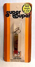 Luhr-Jensen Vintage Super Duper Brass/ Red Head Lure
