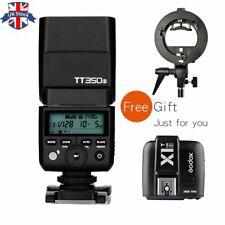 UK Godox Mini TT350S 2.4G TTL Camera Flash+X1T-S Trigger For Sony+S type Bracket