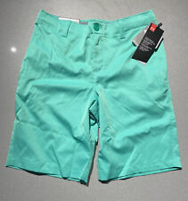 Boys Size 12 Under Armour Shorts Green Chino 1350164-299