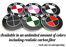 BMW Emblem Overlay Sticker Decal Black Red Green Yellow Blue Pink 82mm 78mm