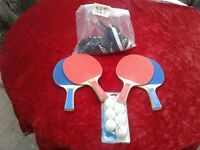 ping pong paddles balls net table tennis indoor sport