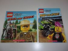 Lego City Catch That Crook and Need For Speed Paperback Books Set of 2 Books