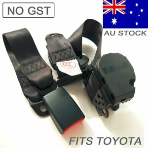 For Toyota 3-Points Universal Adjustable Safety Seat Belt Strap Top Retractable