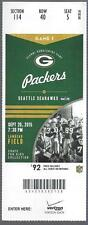 2015 NFL SAN DIEGO CHARGERS @ GREEN BAY PACKERS  FULL UNUSED FOOTBALL TICKET