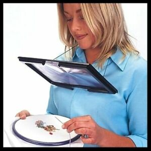 Giant Large Hands Free Magnifying Glass With LED Light Magnifier Reading sewing
