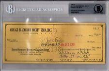 BECKETT-BAS BILL-WILLIAM W. WIRTZ & JOHNNY GOTTSELIG SIGNED 1962 HAWKS CHECK 512