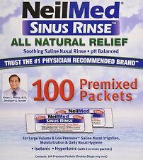 NeilMed Sinus Rinse Regular 100 Salt Premixed Refill Packets Each Exp 06/2019