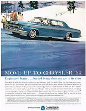 Vintage 1964 Magazine Ad Chrysler Engineered Better Backed Better Than Any Other