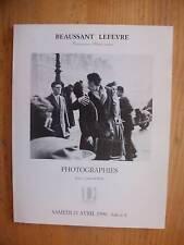 Catalogue Drouot Photographies de CARROLL à AVEDON