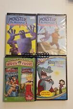 Lot of 4 New Kids Childrens DVDs Monster by Mistake Kenny the Shark Discovery