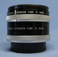 Pair of Canon FL Extension Tubes for Macro Photography - 15mm & 25mm EC