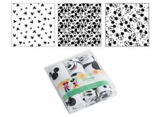 Disney Mickey Mouse Set of 3 Nappy Cotton Fabric Flannel Baby Diaper Muslin
