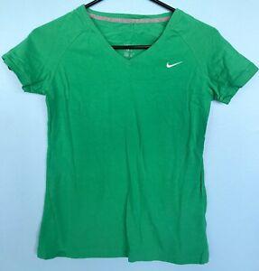 Girl's Nike V-Neck Tee Shirt Green Small 4-6