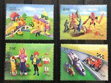 Singapore 2002 Vintage Children Toys stamp 4v set Barbie, Car, LEGO MNH