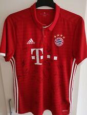 Adidas Trikot FC Bayern München signiert 2016/2017 mit Autogrammen Lewandowski