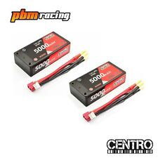 Centro 5000mah 100C Shorty 7.4v 2S LiPo RC Battery Twin Pack C5015