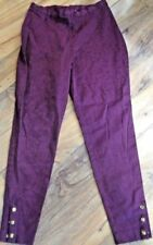 Cotton Blend Pants Tapered Dress Pants for Women