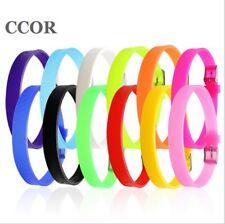 210mm Wrap Soft Rubber Wristband Bracelets Fit 8mm Slide Charms DIY Accessory
