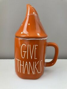 Rae Dunn FALL GIVE THANKS with GNOME TOPPER New - FREE SHIPPING