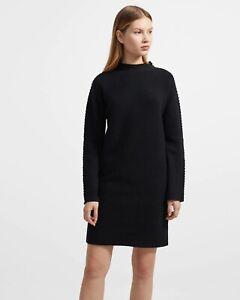 Theory Women's Kimono Turtleneck Felted Wool/Cashmere Dress Size S
