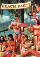 Beach Party Vintage Retro Greeting Lovely Girl Swim wear Postcard ART Max Hernn