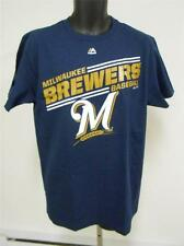 NEW Milwaukee Brewers Adult Mens Size L Large Majestic Shirt