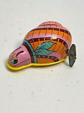 """Vintage Hero Toy Tin Wind Up 3.25"""" Snail made in Japan"""
