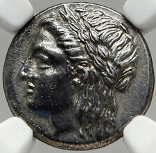 MILETOS IONIA Authentic Ancient 360BC Silver Greek Coin APOLLO LION NGC i83550
