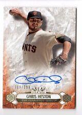 CHRIS HESTON  MLB 2016 TOPPS TIER ONE BREAKOUT AUTOGRAPHS #/299 (GIANTS)