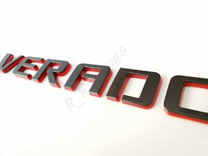 Custom Double layer Black Red Silverado Door Tailgate Letter Nameplate Badge